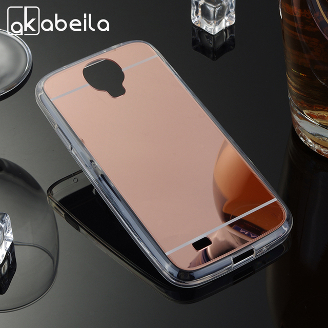 AKABEILA Phone Cases Back Cover For Samsung I9500 Galaxy S4 SIV I9505 GT-I9500 S4 CDMA SCH-I545 Soft PC Mirror Case Covers