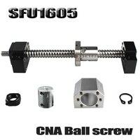 SFU1605 набор SFU1605 свернутый шариковый винт C7 с концевой обработкой + 1605 шаровая гайка + гайка Корпус + BK/BF12 Торцевая Поддержка + муфта RM1605