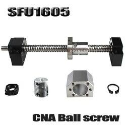 SFU1605 набор SFU1605 шариковый винт С7 с торцевой обработкой + 1605 шариковая гайка + гайка Корпус + BK/BF12 Опора + муфта RM1605
