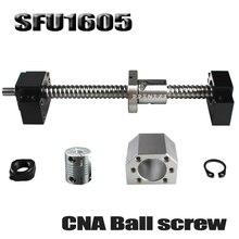 SFU1605 סט SFU1605 התגלגל כדור בורג C7 עם סוף במכונה + 1605 כדור אגוז + אגוז שיכון + BK/BF12 סוף תמיכה + מצמד RM1605