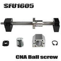 SFU1605 conjunto SFU1605 laminados tornillo C7 con mecanizado + 1605 bola tuerca + tuerca Vivienda + BK/ BF12 final soporte + acoplador RM1605