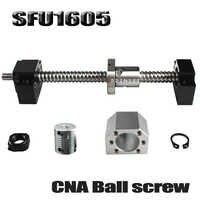 SFU1605 set SFU1605 gerollt ball schraube C7 mit ende bearbeitet + 1605 ball mutter + mutter gehäuse + BK/ BF12 ende unterstützung + koppler RM1605