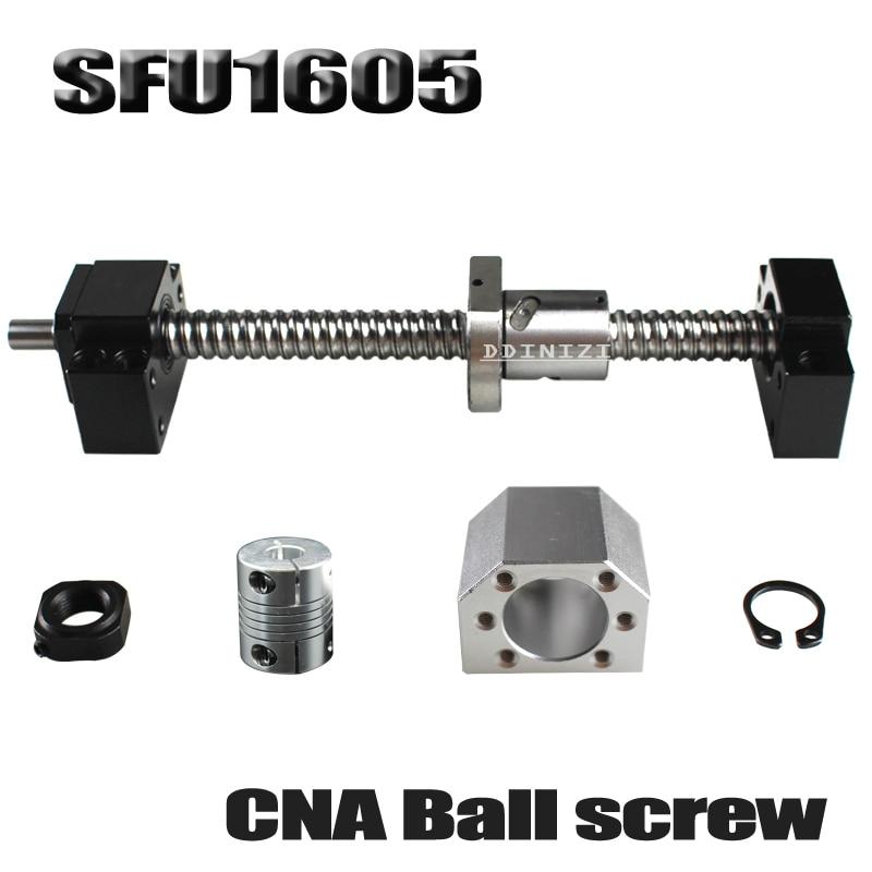 SFU1605 set SFU1605 laminati a ricircolo di sfere C7 con fine lavorazione + 1605 palla dado + dado housing + BK/ BF12 fine supporto + accoppiatore RM1605