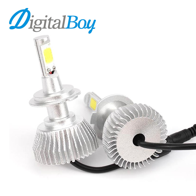 Digitalboy Car LED Headlight H7 Bulbs 60W Headlamp Conversion kit for H1 H3 H4 H11 880 881 9004 9005 9006 Automobile Front Light one set car led headlight bulbs 13200lm 110w h7 h11 h1 h4 9005 9006 white 6000k led headlight conversion kit