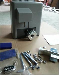 Image 3 - 600KGS Schiebe zugang tor motor Auto Nähe mit 2 Sender 4 m stahl racks 1 paar fotozelle