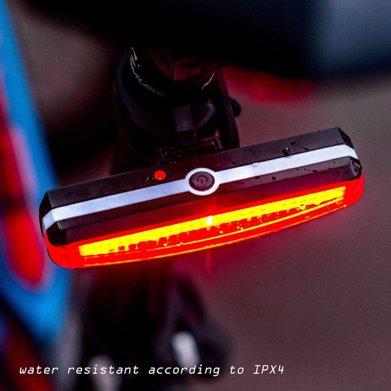 Ultra Bright Bike Light USB Rechargeable Bicycle Tail Light High Intensity Rear LED Night Outdoor Cycling Safety Flashlight