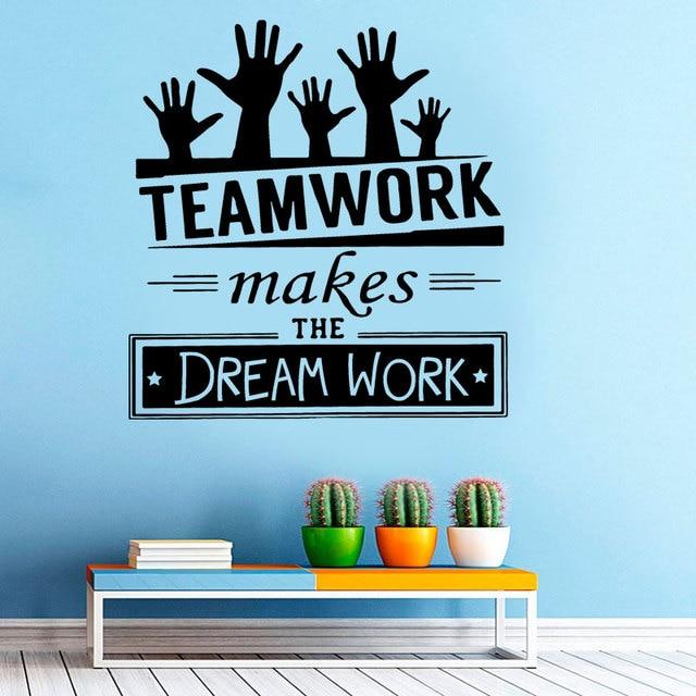 Teamarbeit Macht Den Traum Arbeit Kreative Zitate Aufkleber Buro
