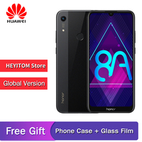 Original global version of Huawei Honor 8A 6.09 MT6765 Octa Core Android 9 facial care ID 4000mAh 3 card slot 4g smartphone
