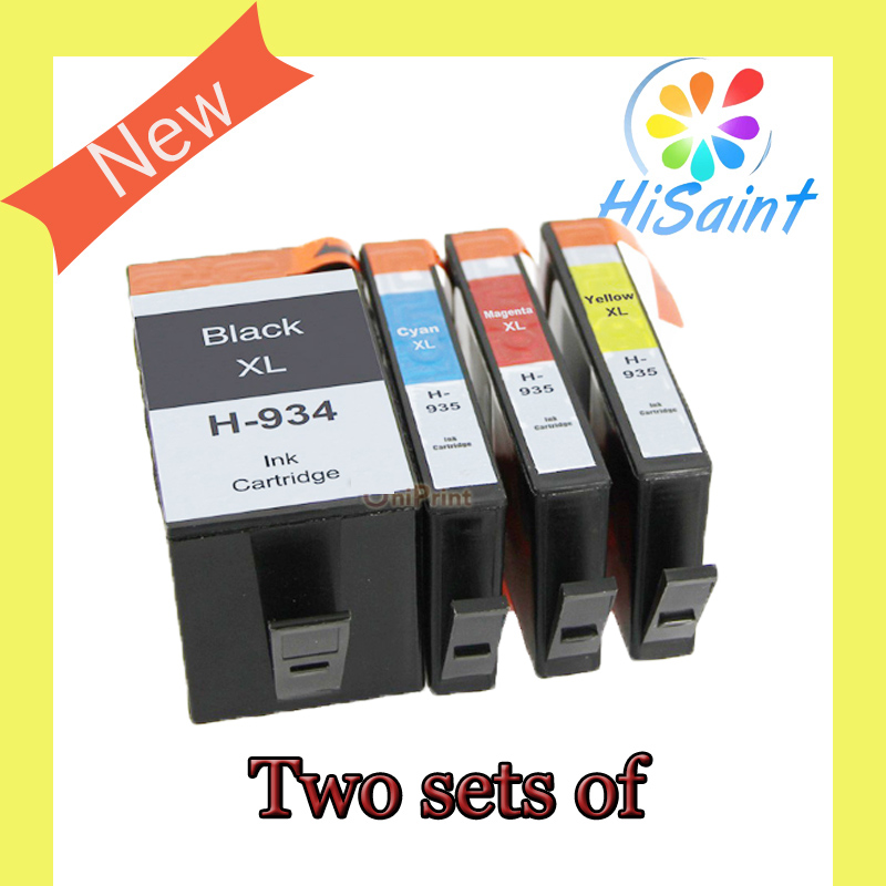 ФОТО Two sets of Compatible Ink Cartridge for hp 934 935 hp934 hp935 XL for hp Officejet pro 6230 6830 6835 6812  printer with chip
