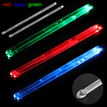 5A LED Polymer Material  Drum Stick Noctilucent Glow in The Dark Stage Performance Luminous Jazz Drumsticks 3 Colors Optional