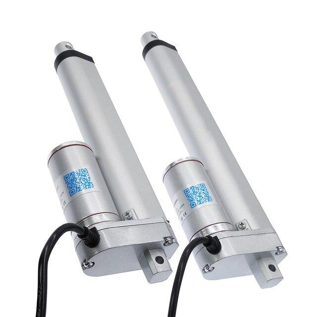 Actuador lineal eléctrico, 200mm, 150mm, 12V/24V, controlador lineal de Motor de carrera de CC, 100/200/300/500/750/800/900/1100/1500N