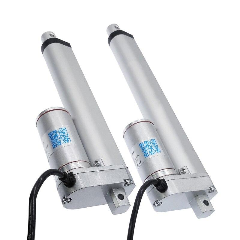 Atuador Linear elétrico 200 milímetros 150 milímetros 12 V/24 V DC Controlador do motor Linear Do Curso Do Motor 100/ 200/300/500/750/800/900/1100/1300/1500N