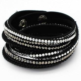 Snelle gratis verzending multilayer lederen armband crystal wrap - Mode-sieraden - Foto 3