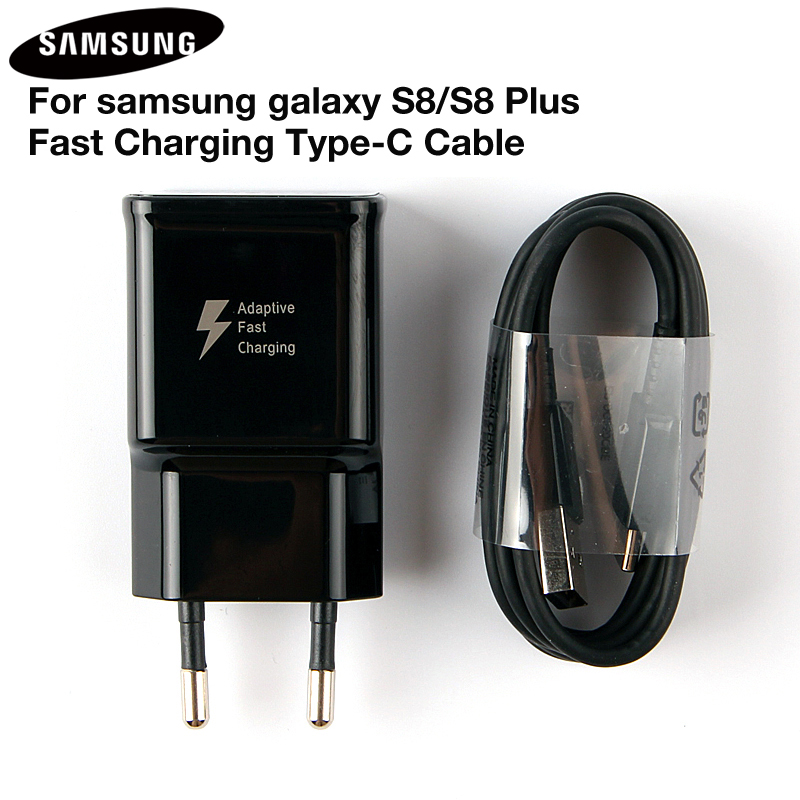 Original Fast <font><b>Charger</b></font> Adapter EP-TA20EBE For Samsung <font><b>Galaxy</b></font> S8 G9500 NOTE8 Note 9 G9550 C7Pro C9 Pro A8 <font><b>A7</b></font> 2017 USB Type C Cable image