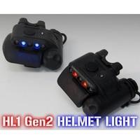 Element Airsoft Gen2 HL1 Helmet Light IR Flashlight Red White LED Tactical Light Softair Hunting Accessories EX029