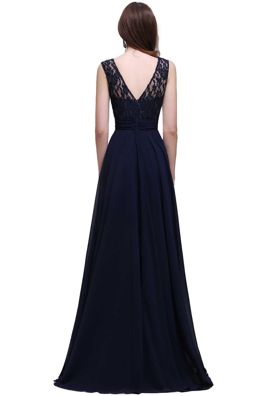 192febb968 Plus Size Chiffon Elegant 2019 Long Prom Dresses Sleeveless Royal Blue Prom  Gown Gala vestidos de festa Longo