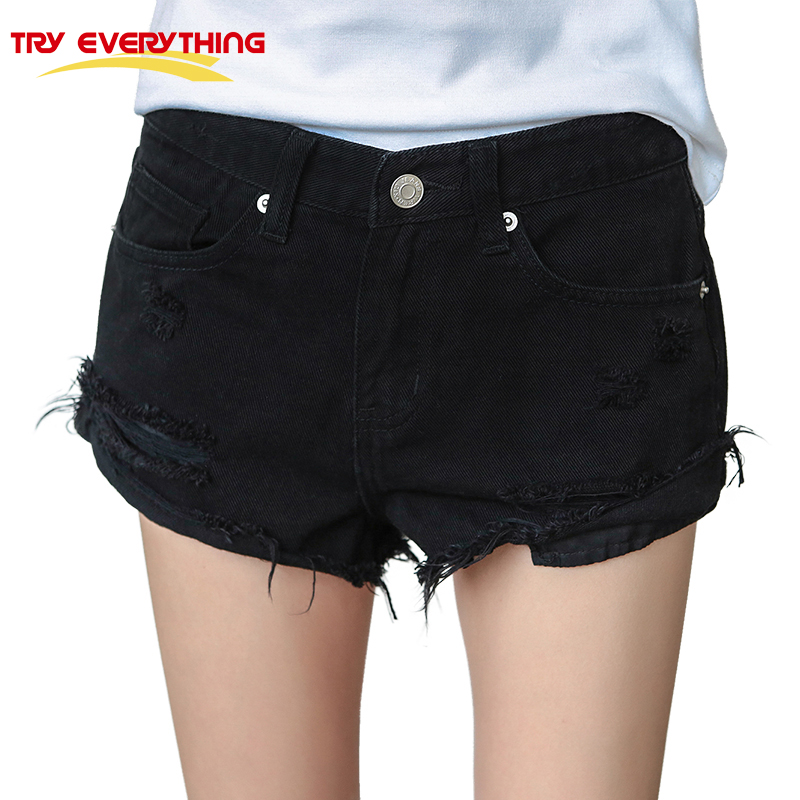 Online Get Cheap Denime Black High Waisted Shorts -Aliexpress.com ...