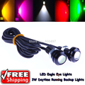 10 x LED Luces de Eagle Eye Daytime Running Cola de Copia de seguridad de 18mm Señal de vuelta de la Esquina Aparcamiento Parada de Cola Luces de Marcha Atrás Para Vw Skoda Glof