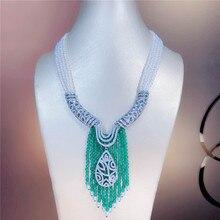 Роскошное многослойное ожерелье из натурального белого пресноводного жемчуга 3-4 мм с микро инкрустацией циркония, аксессуары, модное ювелирное изделие