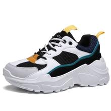 ¡Gran oferta 2019! zapatillas para correr para hombre y mujer, zapatillas deportivas Unisex INS gruesos Vintage para enamorados de papá, zapatillas de plataforma planas de malla para hombre