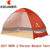 KEUMER Automatic Beach Tent For 2 Person UV Protection Outdoor Instant Pop Up Summer Tent Shade
