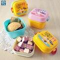 Мини Ланч-бокс для детей  милый мультяшный бенто контейнер для еды  для пикника  двухслойный детский микроволновый маленький портативный шк...