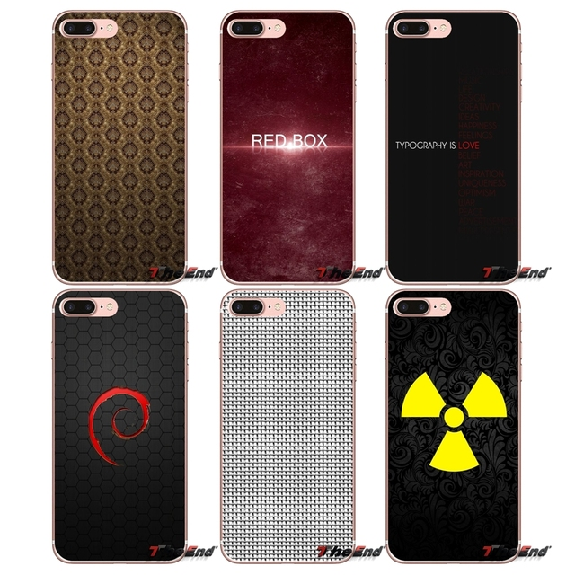 Transparent TPU Shell Covers Textures Sign For iPhone X 4 4S 5 5S 5C SE 6 6S 7 8 Plus Samsung Galaxy J1 J3 J5 J7 A3 A5 2016 2017