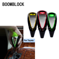 BOOMBLOCK Auto 5/6 Speed Gear Shift Knob Touch Sensor Color LED Light For Toyota Corolla Avensis RAV4 Yaris Auris Hilux Prius