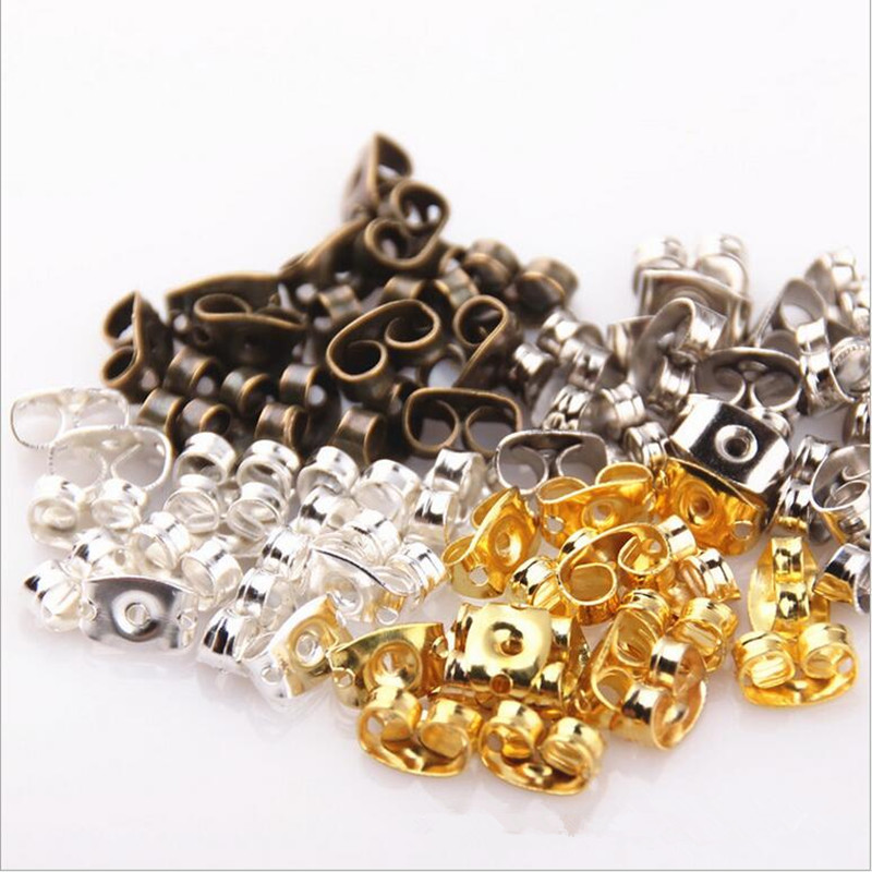 100pcs/lot Earrings Stud Butterfly Earrings Back Stopper Stud Components DIY Parts Accessories Materials Craft Making Z426