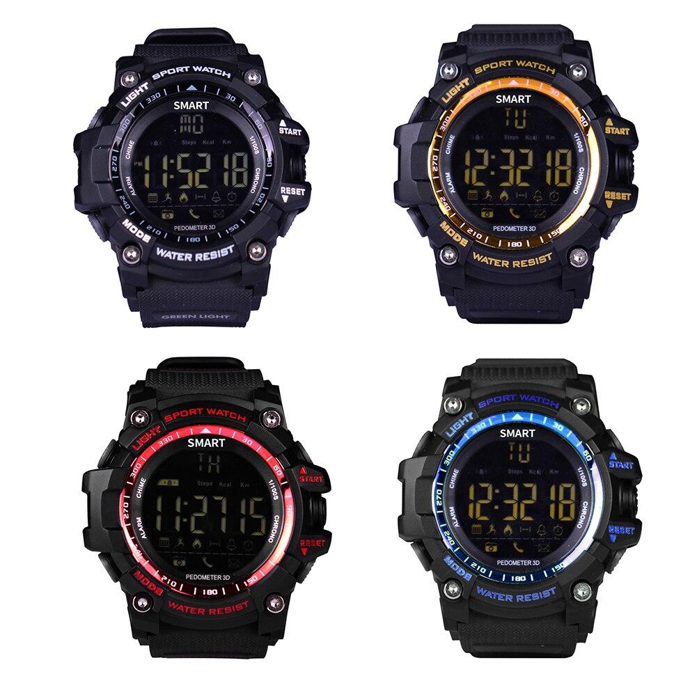 Bluetooth à Prova Homens Mulheres Digital Sports Ver Militar Inteligente Pedômetro Calorias Relógios Mergulhador Hodiny d' Água Relógio Masculino – Led