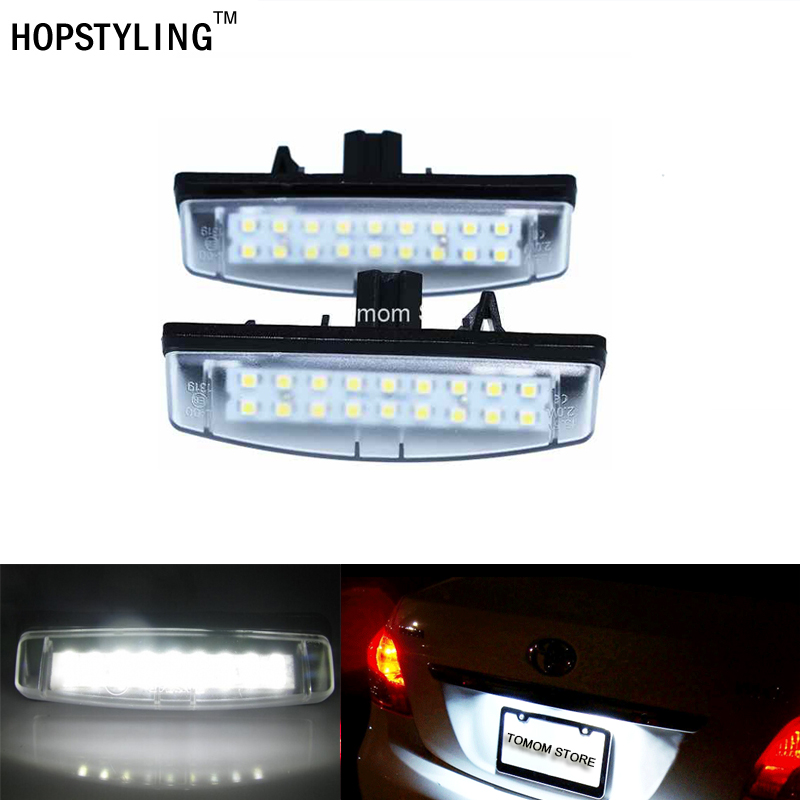 No Error LED license plate light For Toyota Camry Aurion Avensis Verso Echo Prius Car tail number plate lamps auto styling special car trunk mats for toyota all models corolla camry rav4 auris prius yalis avensis 2014 accessories car styling auto