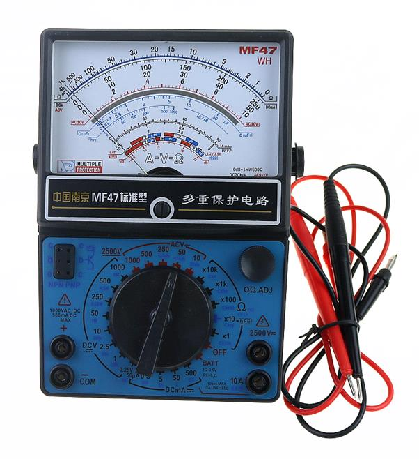 цена на MF47 Pointer Multimeter Measurement of DC Voltmeter Ammeter Ohmmeter Analog by Capacitance of Multimeter