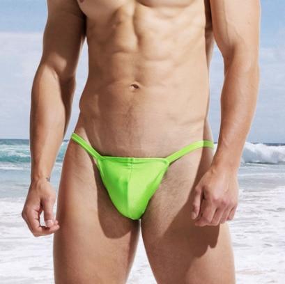 DESMIIT Swimsuit Men Swimming Briefs Sexy Bikini Mens Swim Thong Gay Mens Swimwear Beach Sea Swimming Pool Bathing Suit Short