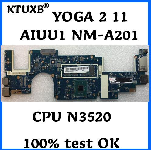 KTUXB AIUU1 NM A201 motherboard for Lenovo YOGA 2 11 notebook motherboard CPU N3520 4G RAM