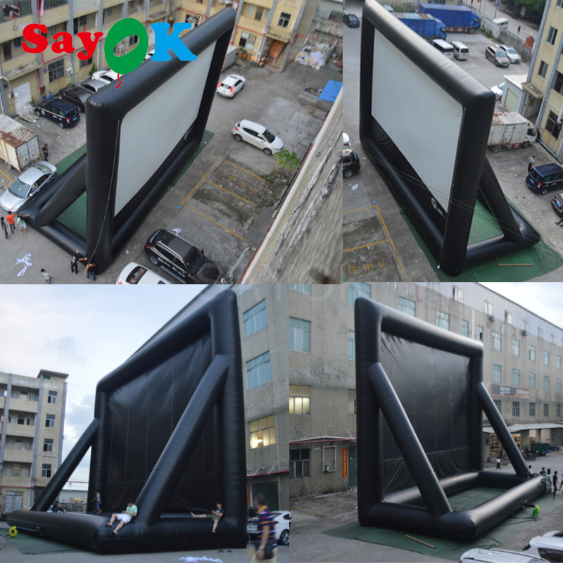 2018 Outdoor Pvc Movie Screen Inflatable Front And Rear