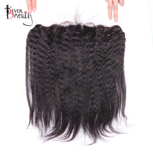Ever Beauty Lace Frontal Closure 13×4 Free Part Pre-plucked Brazilian Kinky Straight Non-remy Human Hair