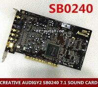 Оригинальный для творческих AUDIGY2 SB0240 7,1 Звуковая карта золотое покрытие интерфейс, поддержка windows xp/win7/8/10