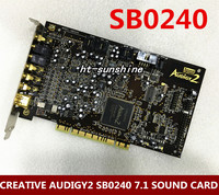 Original for CREATIVE AUDIGY2 SB0240 7.1 SOUND CARD Gold plating interface,support xp/win7/8/10