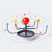 Kids Educational Toy Simulation Solar System Model Science Explore Toys Children's 3D Puzzle Teaching Aids Baby Creative Gifts(China)