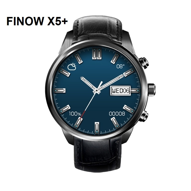 FINOW X5 Plus 3G Android 5.1 Smartwatch Phone GPS MTK6580 Quad Core 1.3GHz 1GB 8GB WiFi Bluetooth Smart Watch for Android IOS
