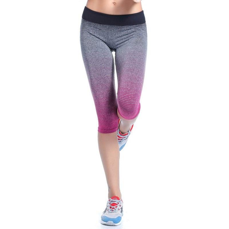 New Women   Leggings   Summer Capri Pants Fitness Clothes Elastic Capris   Legging