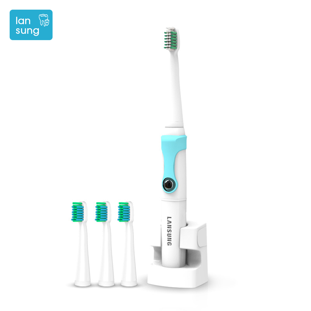 2017 Lansung Sonic electric toothbrush Rechargeable toothbrush electric Escova De Dente Eletrica Electric Tooth Brush Teeth   4 2pcs philips sonicare replacement e series electric toothbrush head with cap