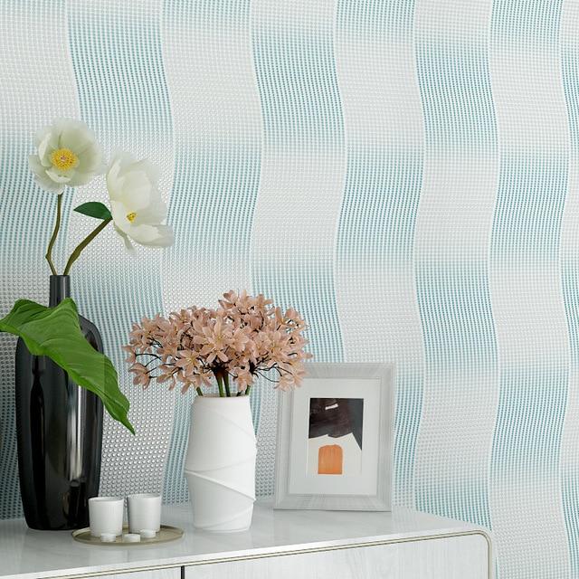 Modern 3D Abstract Wallpapers Blue 3D Wallpaper Roll Living Room Background  Vinyl PVC Wall Paper Roll Papel De Parede Listrado Part 95