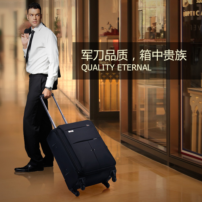 Oxford cloth fabrics, fashion and durable 17/20/22/24/26 Inch Rolling Luggage Spinner brand Travel Suitcase