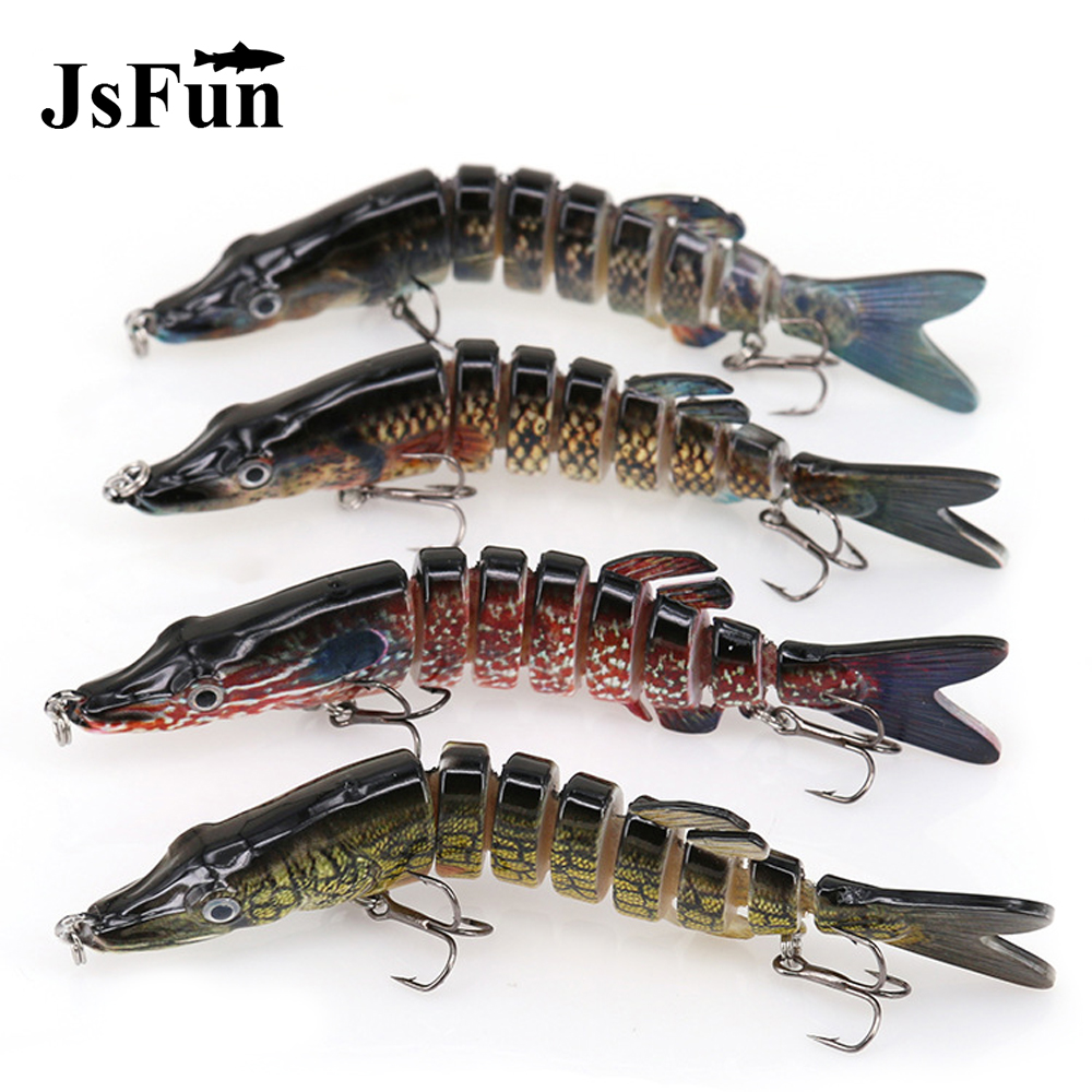 Fishing Wobblers Swim Bait Lifelike 8 Segment Swimbait Pike Crankbait 6#Hook Hard Bait Fishing Lure 130mm20g Fishing Tackle L162 1pcs lifelike 8 5g 9 5cm minow wobblers hard fishing tackle swim bait crank bait bass fishing lures 6 colors fishing tackle