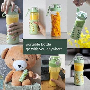 Bear Mini Portable Fruit Juice Machine with 2 Glass Bottles Stand Food Mixer Juicers Household Electric Blenders Kitchen Aid 1