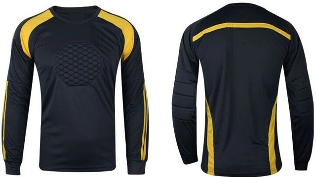 d8cc94916 Football Soccer Goalkeeper Jersey Clothes Clothing Goalie GK Shirt NEW Long  Sleeve Pad Youth Adult Full Size