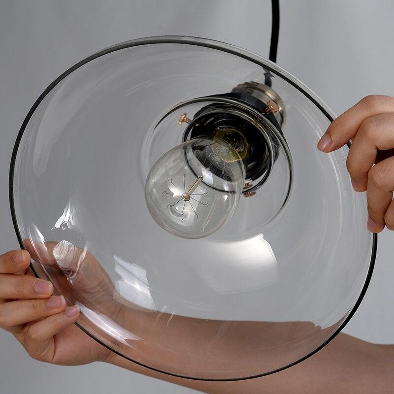 Indústria Retro luzes pingente de vidro Enviar estacionado azul vintage bar café candeeiro de mesa criativa dispositivos elétricos da loja de roupas - 3