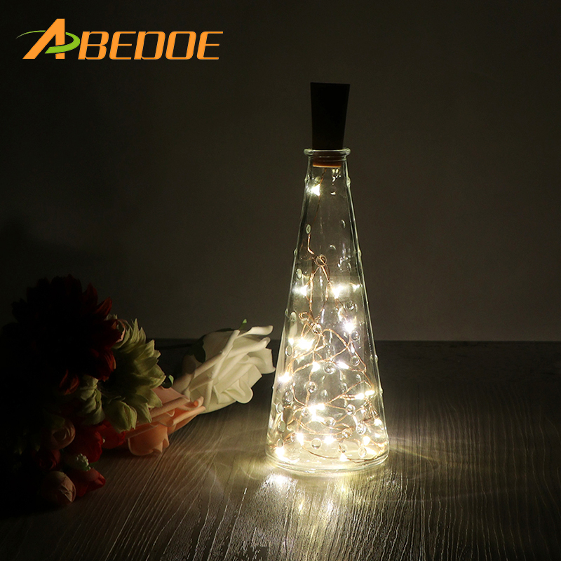 ABEDOE 20 Leds Christmas Lights Indoor 2M String LED Copper Wire Fairy Lights for halloween Festival wedding Decoration Lamp