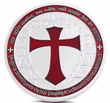 Cavaleiros banhados à prata templar coleções de moedas cruz da europa